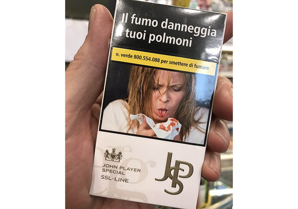 Cigarette Packaging in Italy